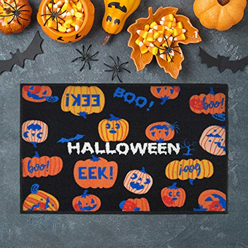 Halloween Pumpkin Door mat Large Halloween Decorations Outdoor & Indoor Entrances, Entryway Rug, Entry Hall, Bathroom, Bedroom, Kitchen, Garages, Patio, Porch, Business Areas, 31.5