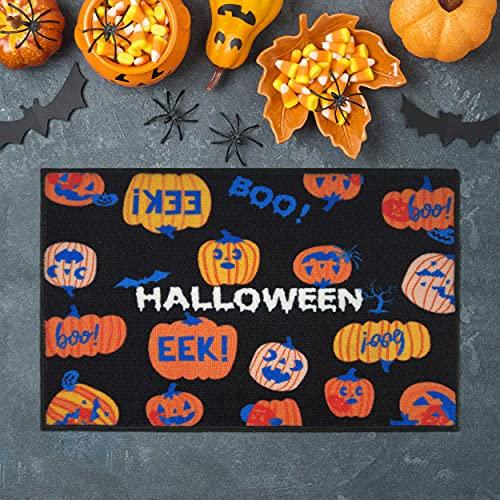 HalloweenPumpkin Doormat,LargeDoorMatOutdoor&IndoorEntrances, EntrywayRugforHalloweenDecorations,EntryHall,Bathroom,Bedroom,Kitchen,Garages,Patio,Porch,BusinessAreas,31.5'x20'