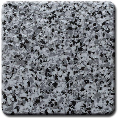 "Professional grade PVA decorative color chip flakes for epoxy garage floor coatings (1/4"", Granite, 5 lbs)"