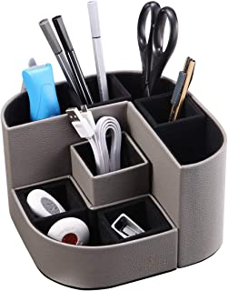 Vpack Magnetic Pencil Holder, Multi-Functional Leather Desk Storage Organizer for School, Office, Company, Kitchen, Locke...