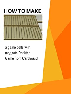 How to make a game balls with magnets Desktop Game from Cardboard