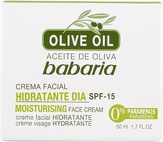 Babaria Crema Facial Hidratante Día Spf15 Aceite Oliva Verde 50 Gramos