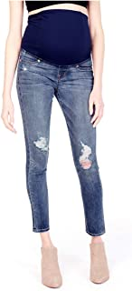 Women's Skinny Maternity Jeans with Crossover Panel
