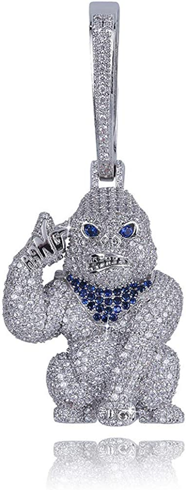 Moca Max 80% OFF Jewelry Hip Hop Iced Out Ape Pendent Gold Big 18K Max 61% OFF Pl Buckle