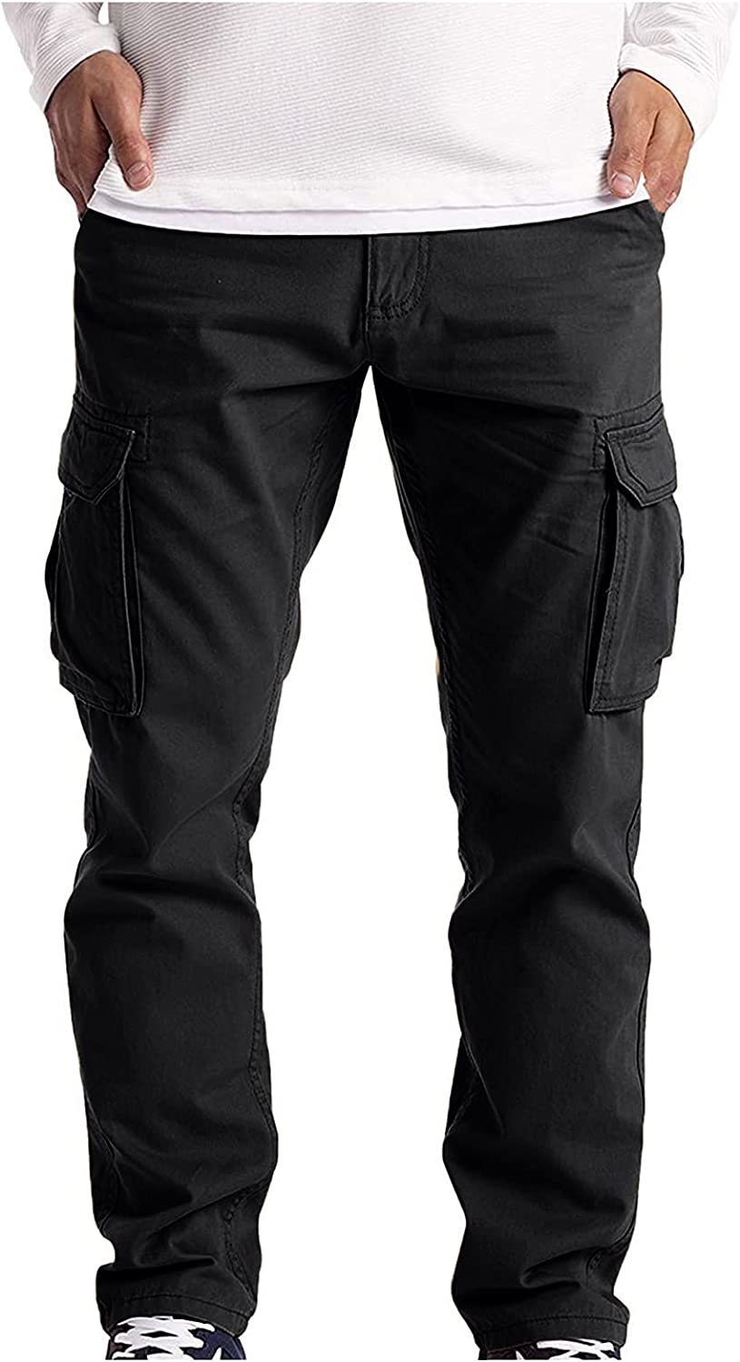Mens Cargo Pants with Pockets Relaxed Fit, Hiking Pants for Men Zip Off Lightweight Quick Dry Breathable Pants