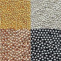 真鍮製 高品質 カラーブリオン 各種 4色 (約3mm(約6g), 3.ピンクゴールド)