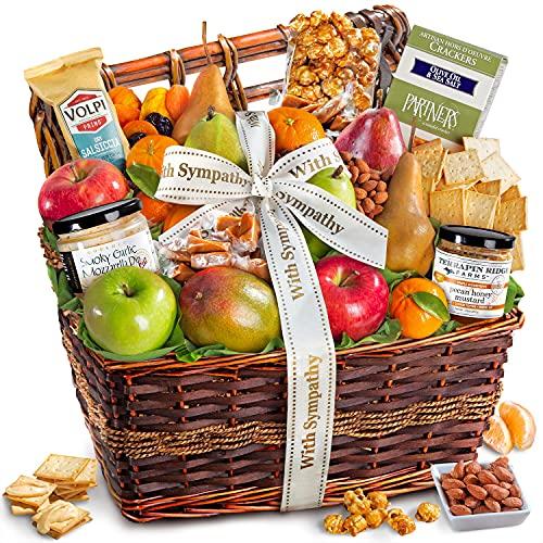 Sympathy Gourmet Abundance Fruit Basket Gift
