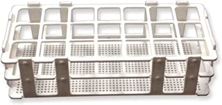 Frey Scientific No-Wire Autoclavable Polypropylene Test Tube Rack for 30mm Tube,  21 Well
