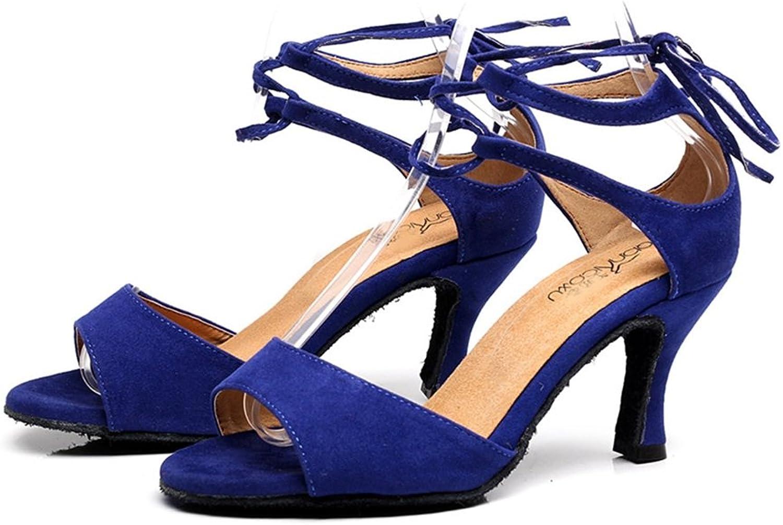 GIY Women's Ladies Latin Salsa Tango Dance Sandals Open Toe Morden Ballroom Dancing shoes with 2.75  Heel
