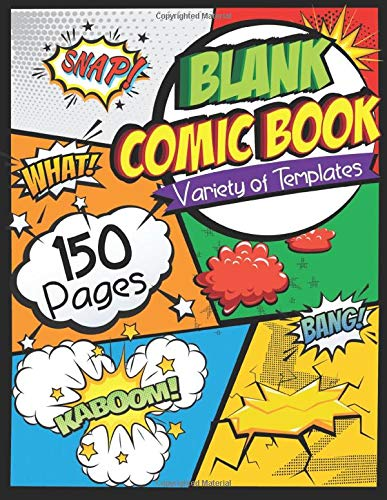 "Compare Textbook Prices for Blank Comic Book: Draw Your Own Comics - 150 Pages of Fun and Unique Templates - A Large 8.5"" x 11"" Notebook and Sketchbook for Kids and Adults to Unleash Creativity  ISBN 9781728677576 by Toddlerz, Happy"