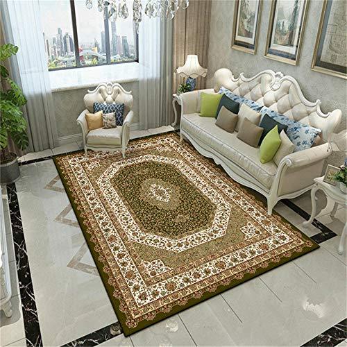 WQ-BBB Alfombra Salon Acogedor Estilo Europeo marrón Blanco Verde alfombras Grandes 300X400cm