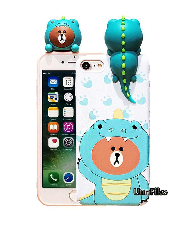 Squishy Phone Case iPhone 6 6s Plus, Super Cute iPhone 6 3D Cases Soft Silicone Cartoon Animal Protective Phone Case for Girls Women (iPhone 6 Plus / 6s Plus, Dinosaur)