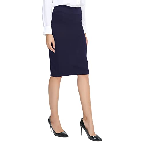 25055197612b8 Urban CoCo Women s Elastic Waist Stretch Bodycon Midi Pencil Skirt
