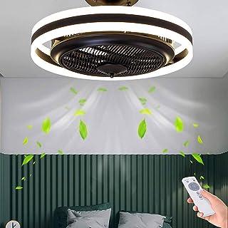 Ventilador De Techo Lámpara De Techo Con LED Iluminación Luz De Ventilador Invisible Ajustable Moderna Para Dormitorio Lámpara De Sala De Estar Regulable Control Remoto Silencioso Habitación Niños