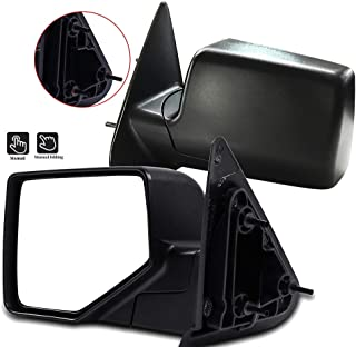 SCITOO Side View Mirrors A Pair of Mirrors Fit Compatible with 2006 2007 2008 2009 2010 2011 Ford Ranger FO1320283 FO1321283 Manual Adjustment Manual Folding