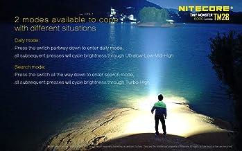 NITECORE TM28-SET Nitecore TM28 6000Lm Rechargeable Flashlight, Youth-Unisex