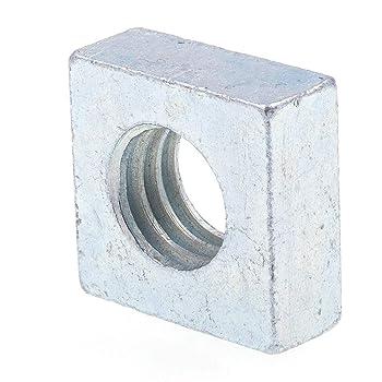 MroMax M3x5.4x2.4mm 304 Stainless Steel Square Machine Lightweight Screw Nuts 100pcs Sliver tone