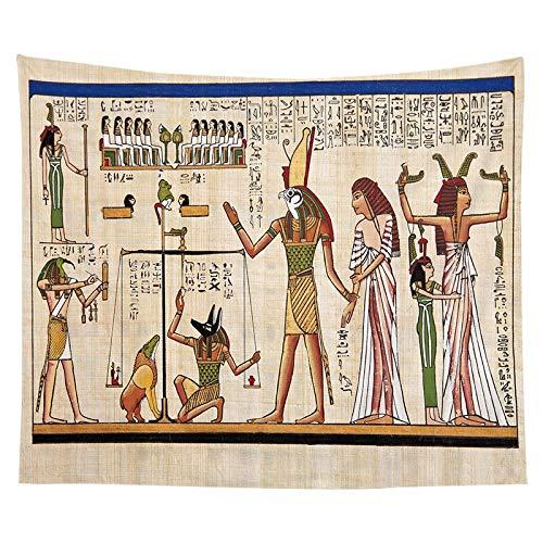 WERT Tapiz de faraón Egipcio, Tapiz Familiar para Colgar Junto a la Cama, Tela de Fondo, decoración de la Vida, Tapiz de Tela A13 150x200cm