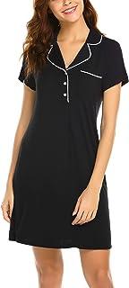 قمصان نوم Avidlove للنساء قمصان النوم قميص النوم زر أسفل ملابس نوم مريحة فائقة النعومة مع جيب على الصدر