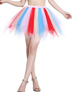 comprar comparacion Berylove Mujer Falda de Tul Tutú Ballet Enaguas Plisada Cortas para Fiestas