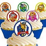 Cakeshop 12 x Vorgeschnittene und Essbare Paw Patrol Kuchen Topper (Tortenaufleger, Bedruckte Oblaten, Oblatenaufleger) -