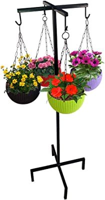 TrustBasket Clover Hanging Basket Stand - Pots and Plants Not Included