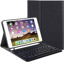 iPad Mini 5 Keyboard Case, YMH Detachable Ultra-Thin Smart Auto Wake/Sleep Wireless Bluetooth Keyboard Folio Stand Case Cover for Apple iPad Mini 5th Generation 2019 with Apple Pencil Holder, Black