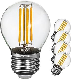 フィラメント led電球 e26 電球色 40W形相当 400lm エジソン電球 シャンデリア電球 広配光【5個入り】