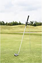 Mobile Pro Shop V-Shaped Golf Club Stand with a Microfiber Greens Towel (16″ x 16″), Keeps Your Clubs Clean, Dry & Visible...