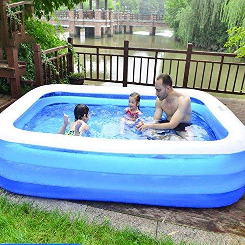 Dirgee Familia Piscina Espesada Inflable Kiddie Pools Pools Interaction Summer Water Party Lounge Pool para niños Adultos Piscinas para jardín, Patio Trasero, al Aire Libre