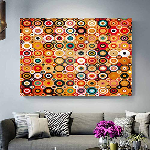 ParadiseDecor Office Wall Decor Modern Art,Concentric Vortex Lines Boyfriend Gifts L30 x H60 Inch