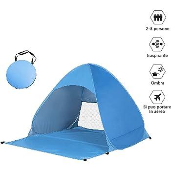 per 2-3 Persone Custodia Inclusa Tenda Mare Pop Up Portatile con Protezione Solare UPF 50 Fenvella Tenda da Spiaggia