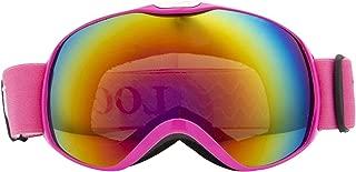 Aooaz Ski Goggles Snow Goggles Anti Fog Uv Protection Anti Slip Strap For Boys Girls Children