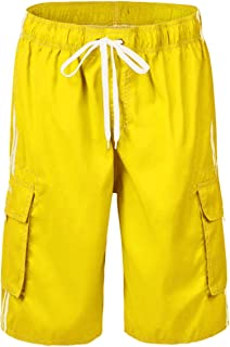 2ad4a69e9f Nonwe Men's Beachwear Board Shorts Quick Dry with Mesh Lining Swim Trunks