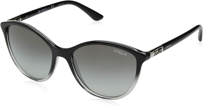 VOGUE Women's 0vo5165s Cateye Sunglasses TRANSPARENT GREY GRADIENT BLACK 55 mm