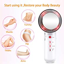 Yipianyun Body Slimming Machine 3 in 1 Ultrasonic Cavitation Fat Burning Device Weight Loss Cellulite Removal Massager Weight Loss Ultrasonic EMS LED ION Firming Shaping Device Estimated Price : £ 42,70