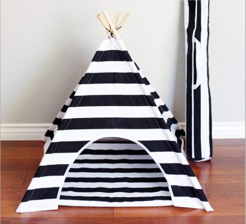 GZDXHN Dog House Removable Canvas Wooden Pet Nest Pet Tent Cat Kennel Pet Mat Pet Supplies