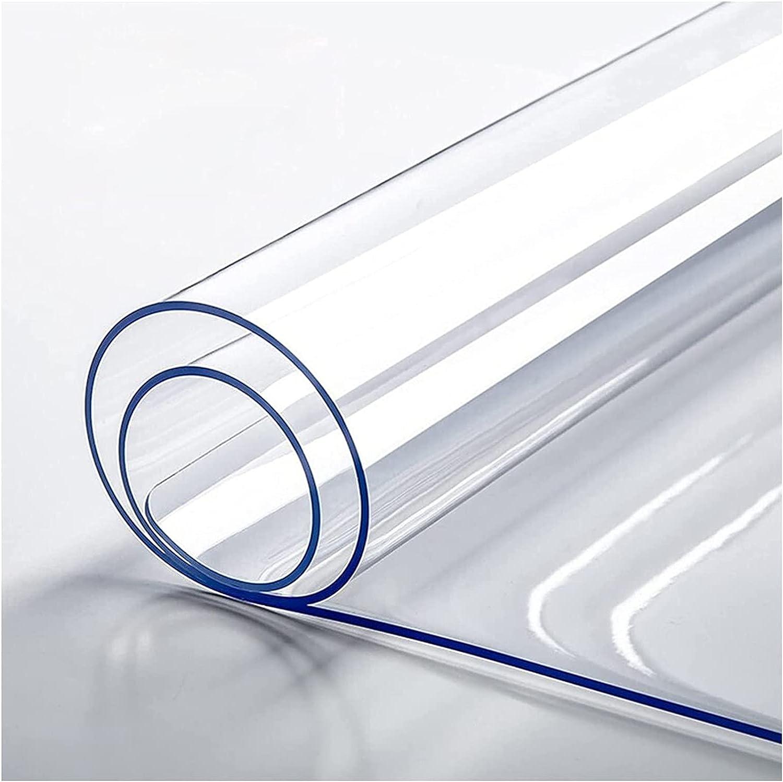 Mantel Protector de PVC,Mantel Transparente Rectangular,Cubierta De Mesa De PláStico,Mantel Impermeable De PVC Limpiable A Prueba De Aceite Para Mesa De Comedor/Escritorio(Color:1.5mm,Size: 90x170cm)