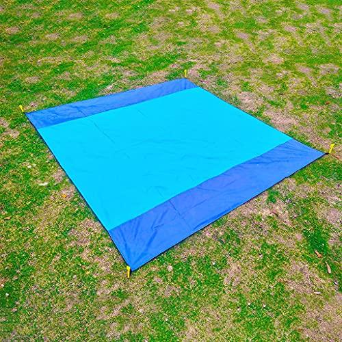 Picnic al aire libre Manta impermeable 80 * 80 pulgadas, cojín anti-suela plegable liviano, estera de playa de poliéster duradera, adecuado para practicar senderismo, viajar, acampar y vacaciones, con