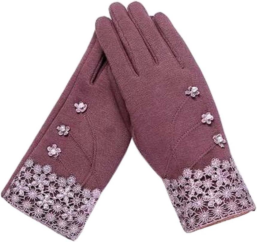 Alien Storehouse Ladies Warm Winter Gloves Driving Gloves Flowers Purple