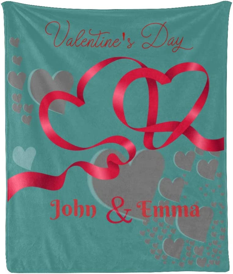 CUXWEOT Personalized Blanket with Name 2021 spring and summer new Quality inspection Custom Valentine's Text D