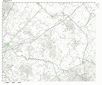 Working Maps Jackson County Georgia GA Zip Code Map Not Laminated