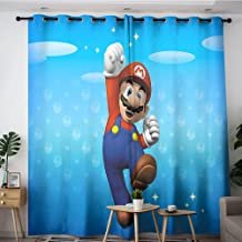 """Grommet gordijnen Super Mario poster Voor home office decoratie, machine wasbaar 84 """"x84"""""""