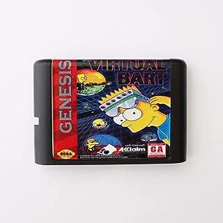 Virtual Bart 16 bit SEGA MD Game Card For Sega Mega Drive For Genesis ,Sega Genniess-Sega Ninento,16 bit MD Game Card