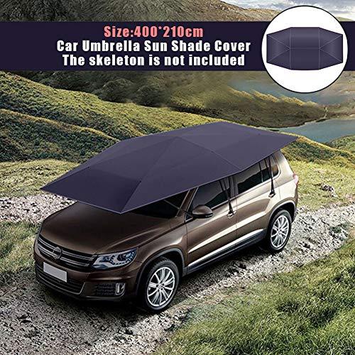 Semine Car Sun Shade Cover Auto Markise 4X2.1M wasserdicht Auto Regenschirm Zelt Sunproof Sun Shade Universal (Ohne Ständer) (deep Blue)