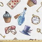 Lunarable Alice im Wunderland Stoff von The Yard, Cupcakes