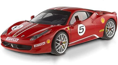 Hot Wheels HWX5486 Ferrari 458 Italia Challenge rot 1 18 MODELLINO DIE CAST kompatibel mit