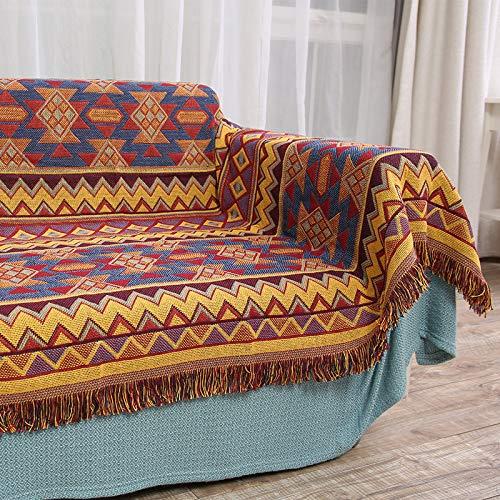 Böhmische Stil Dreischichtige Dicke Sofadecke Gänseblümchen Druck rutschfeste Sofabezug Stoff Karte Sofa Stuhlbezug Mode Warme Schal Decke Einfache Picknickmatte