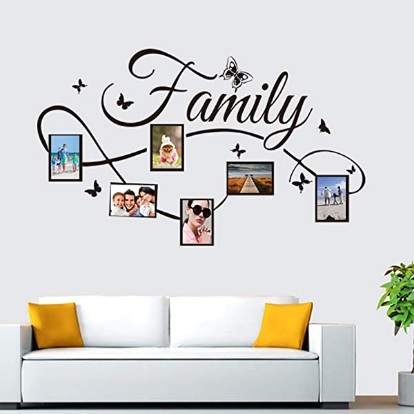 Iusun Family Photo Frame Wall Sticker Removable DIY Mural Paper Decoration For Room Home Nursery Bedroom Office Supplies Decal Ship From USA A