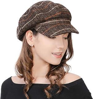 977b2e7066267 SIGGI Womens Visor Beret Newsboy Hat Cap for Ladies Merino Wool